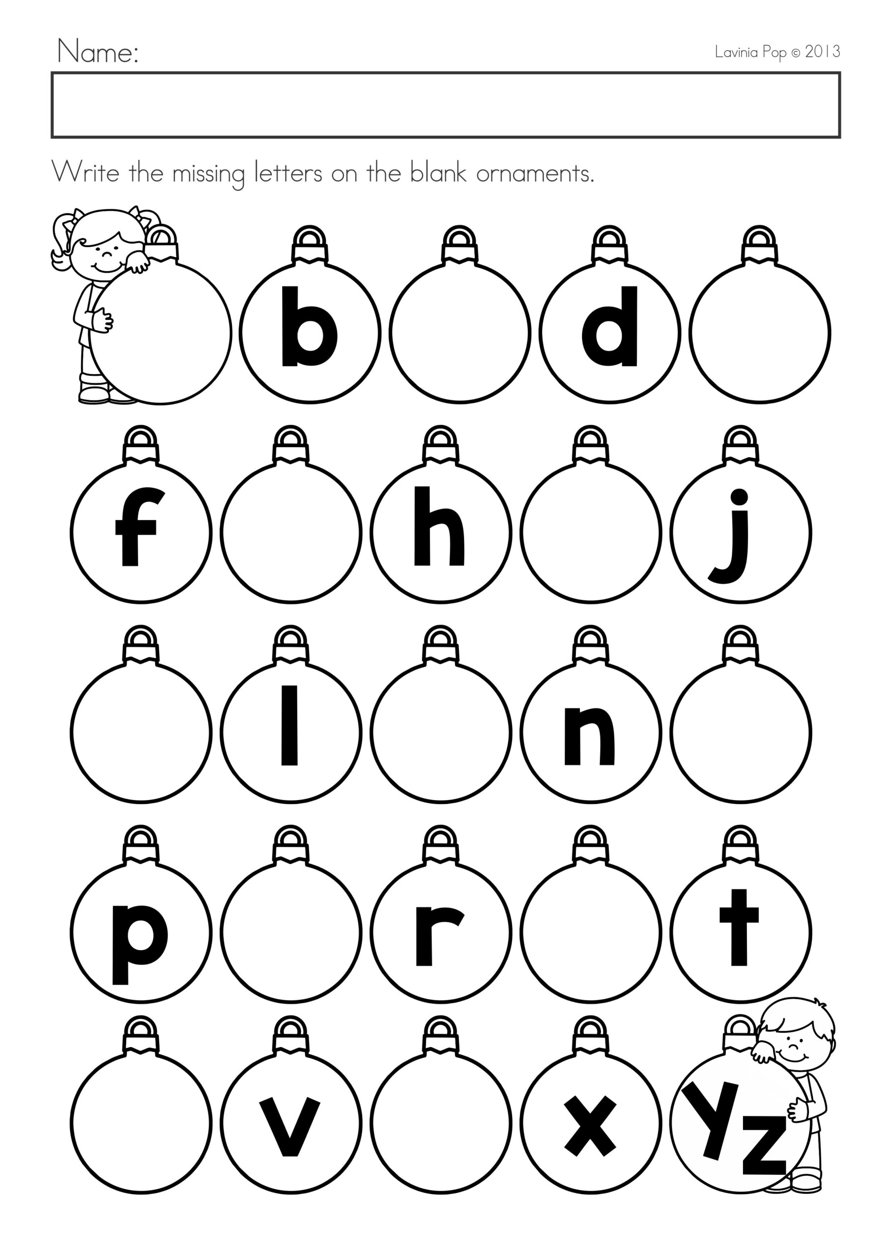 Kindergarten Christmas Math Worksheet Missing Number