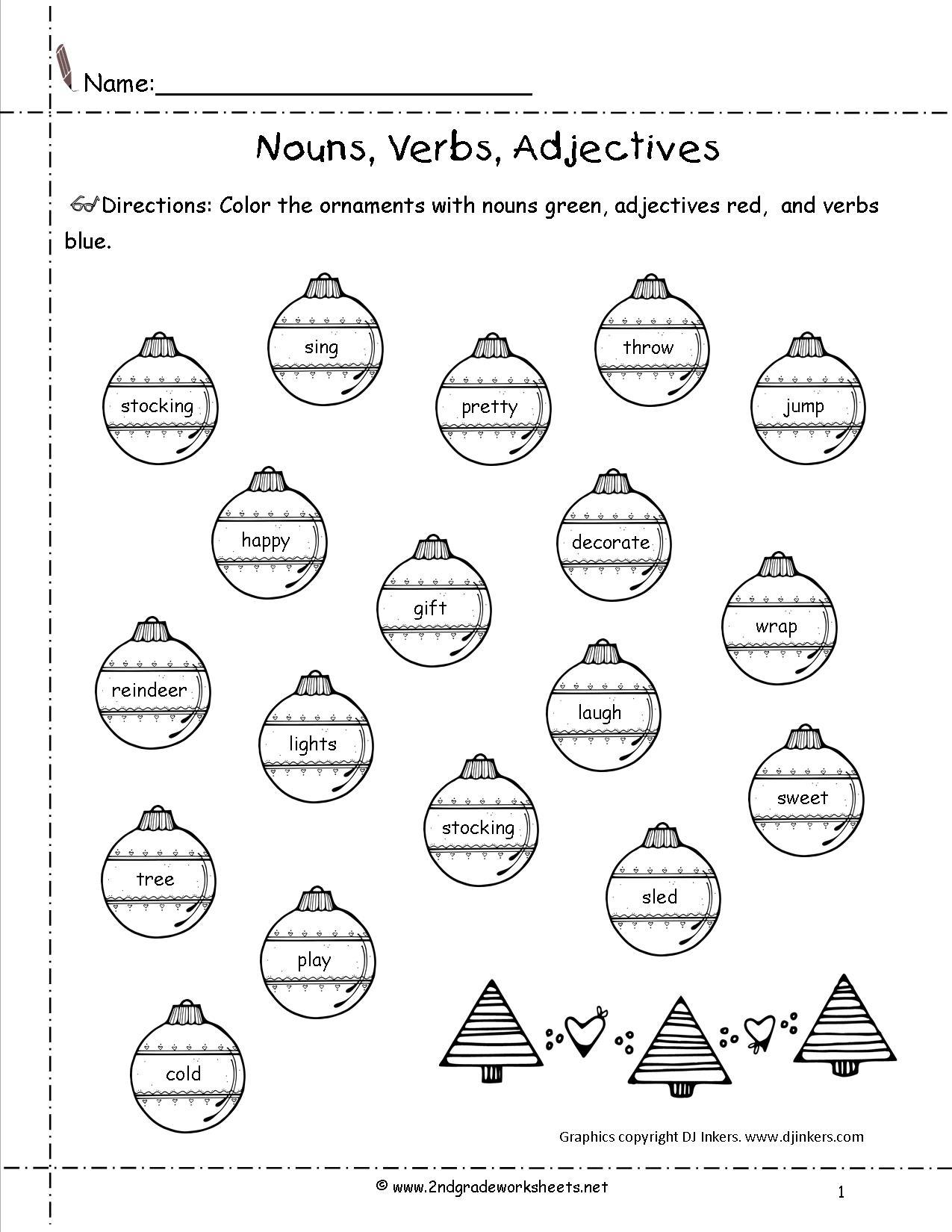 Christmas Time Worksheets Printables