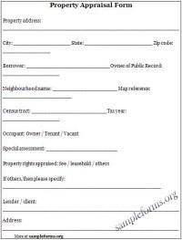 Property Appraiser Templates | Print Paper Templates