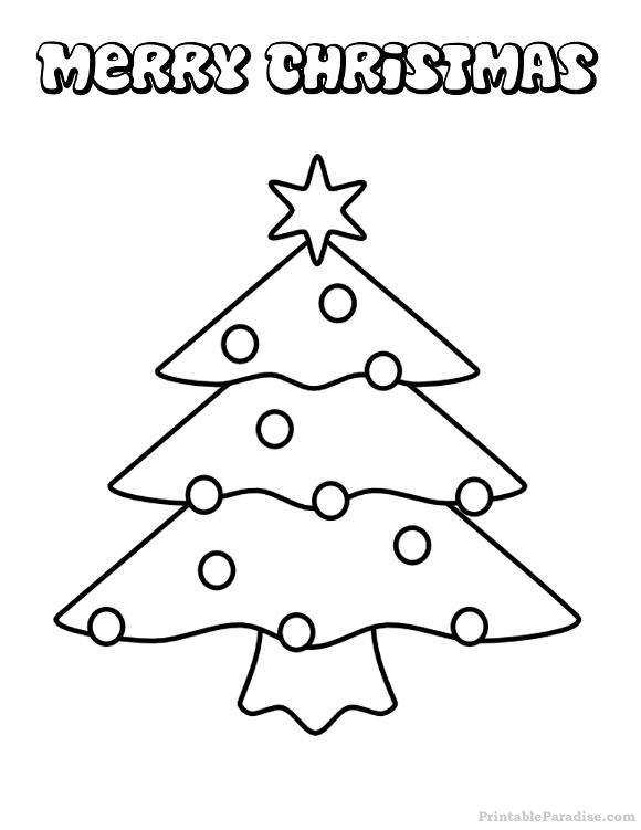 Printable Christmas Tree Christmas Coloring Page