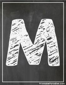 Printable Chalkboard Letters Print Chalkboard ABCs