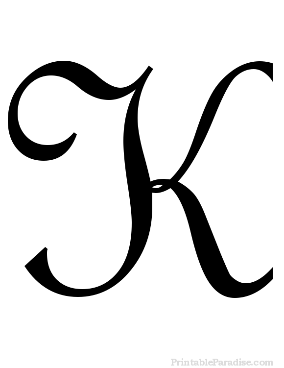 Printable Cursive Letter K Print Letter K In Cursive Writing