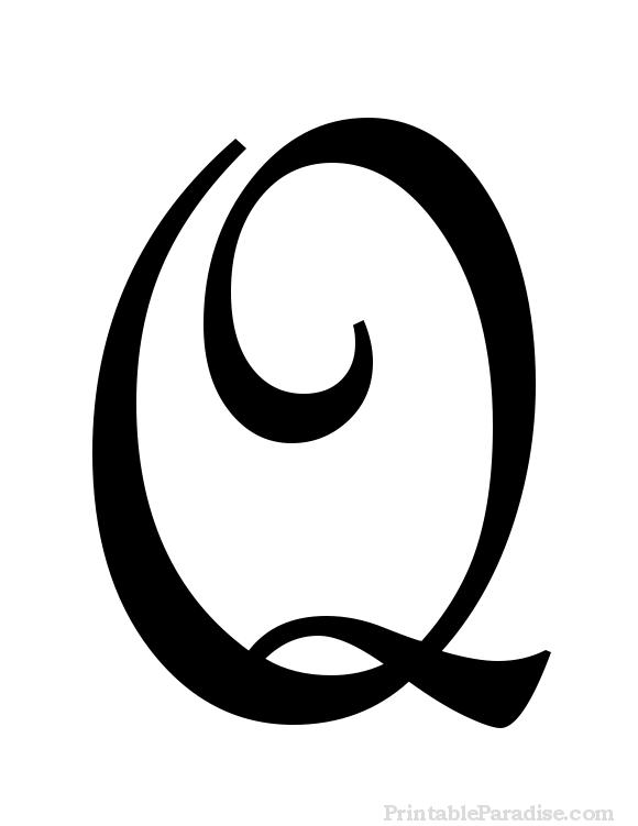 Writing Cursive Capital Q