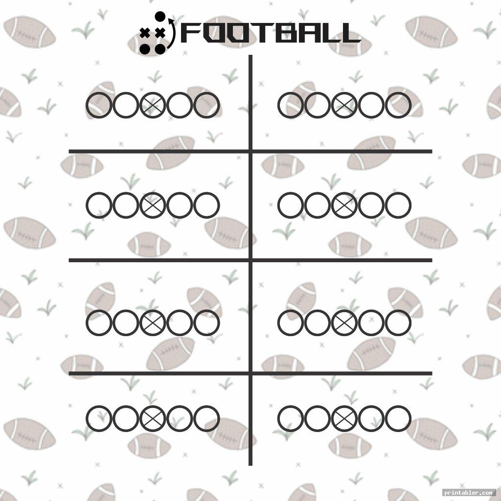 Printable Blank Football Formation Sheets That are