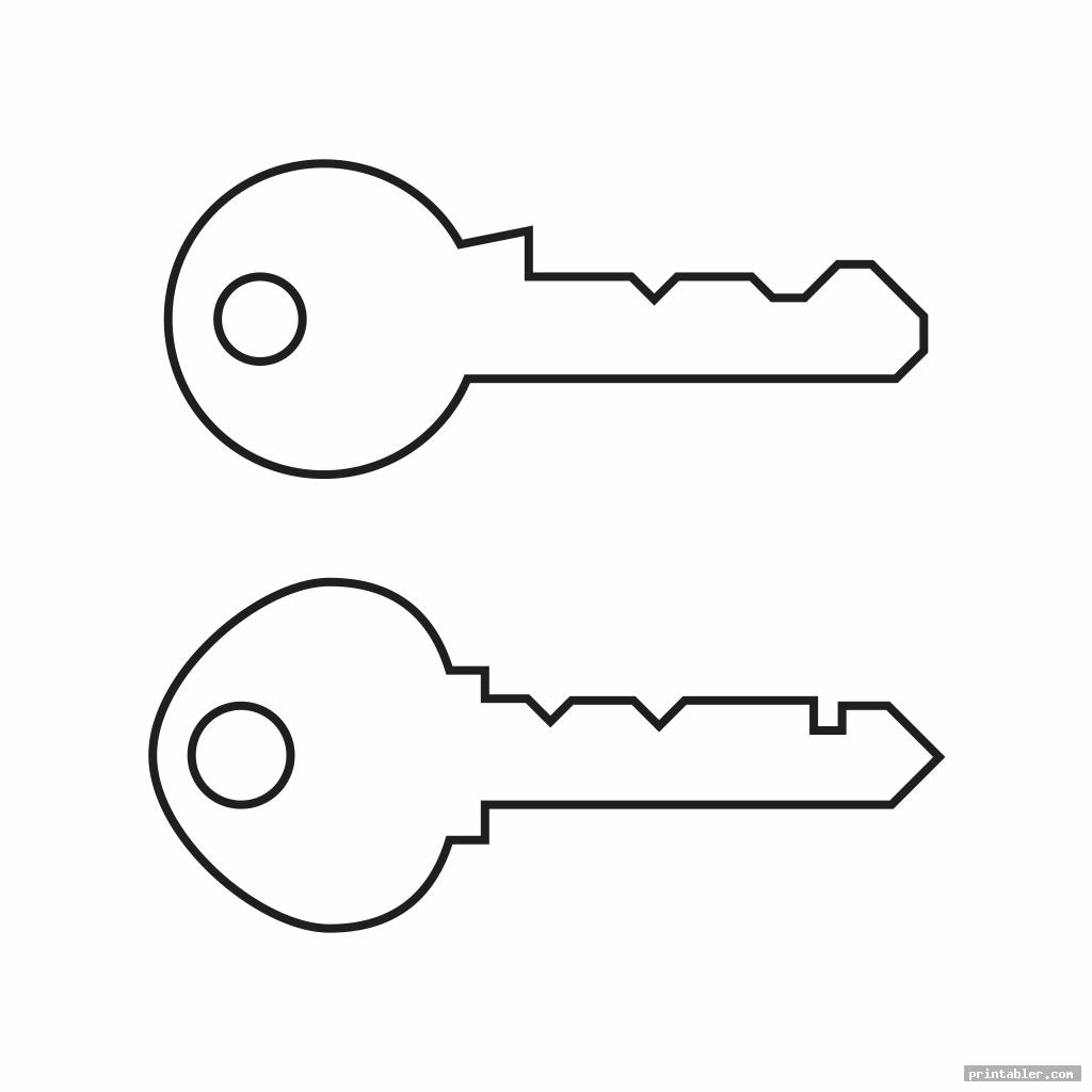 Key Template Printable