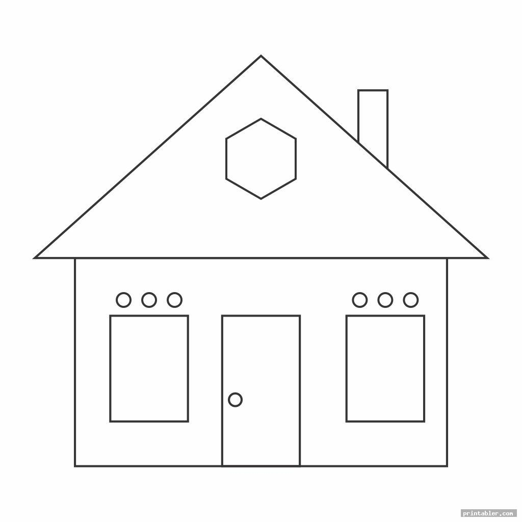 Shape Worksheets Printable Houses
