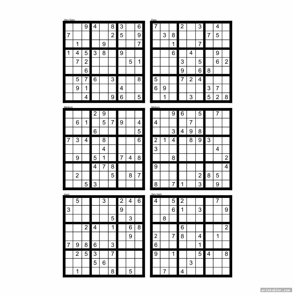 The Best Printable Blank Sudoku 4 Per Page