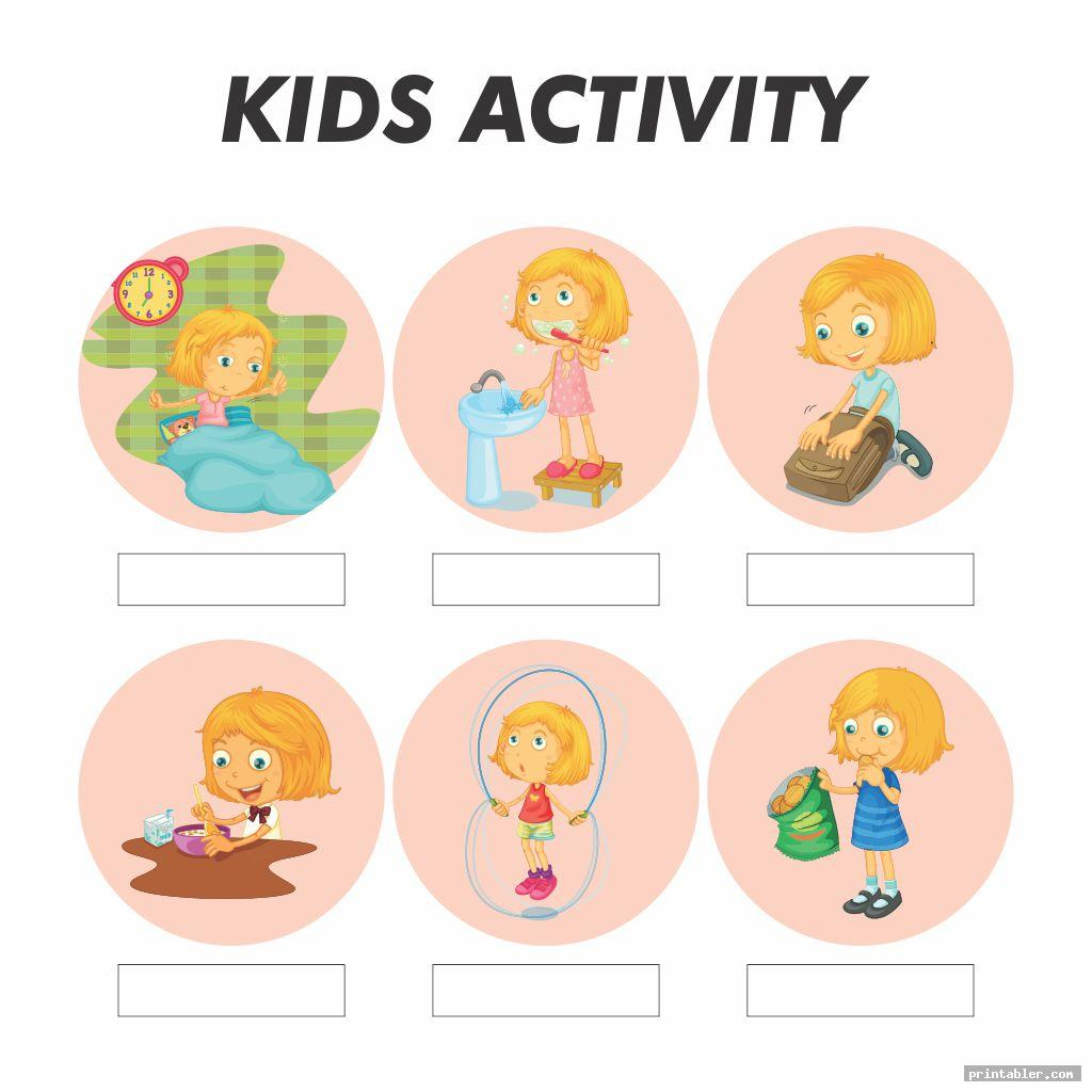 Printable Kids Daily Routine Schedule