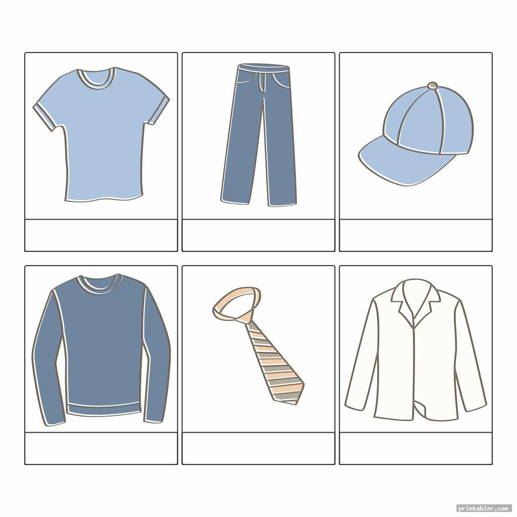Clothes Printable Worksheets