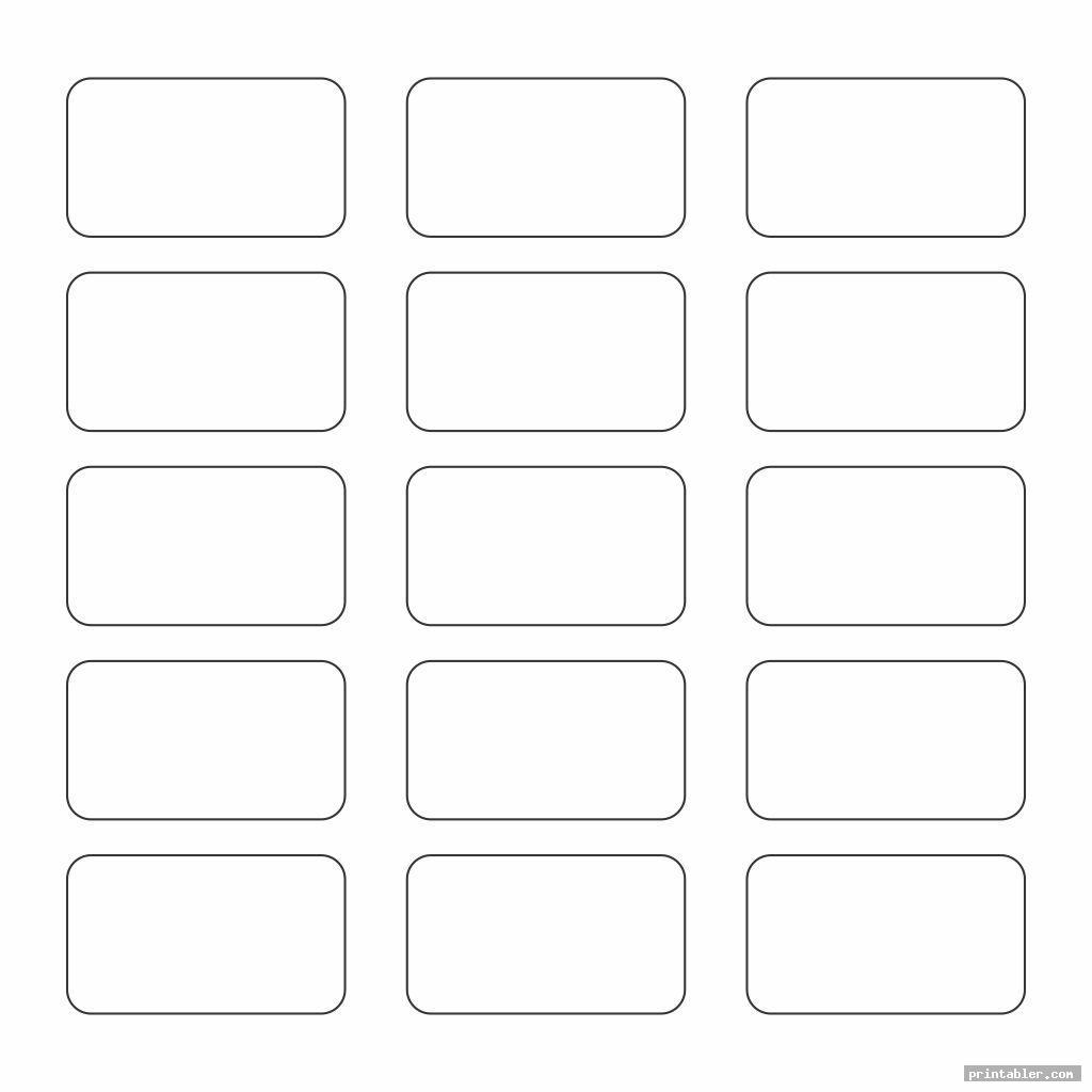 Printable Blank Cocabulary Cards