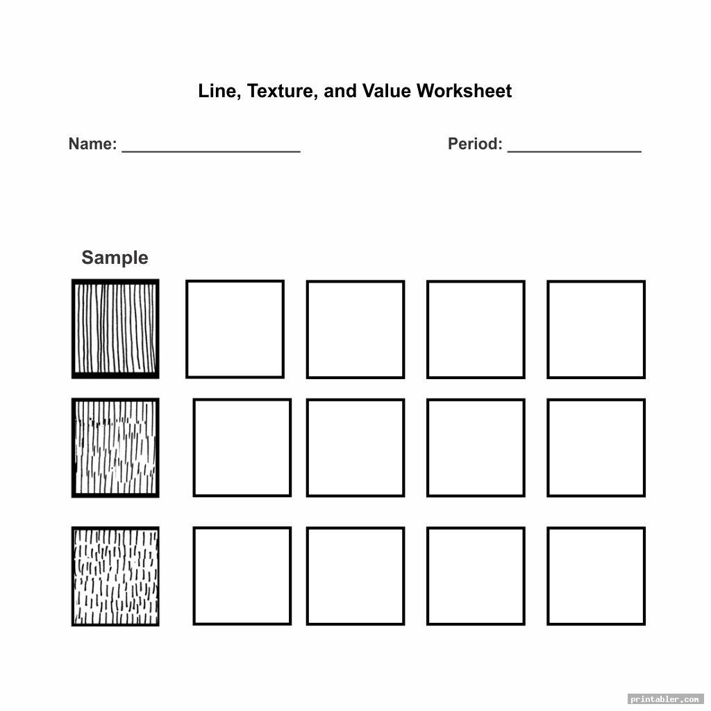 Blank Value Scale Worksheet