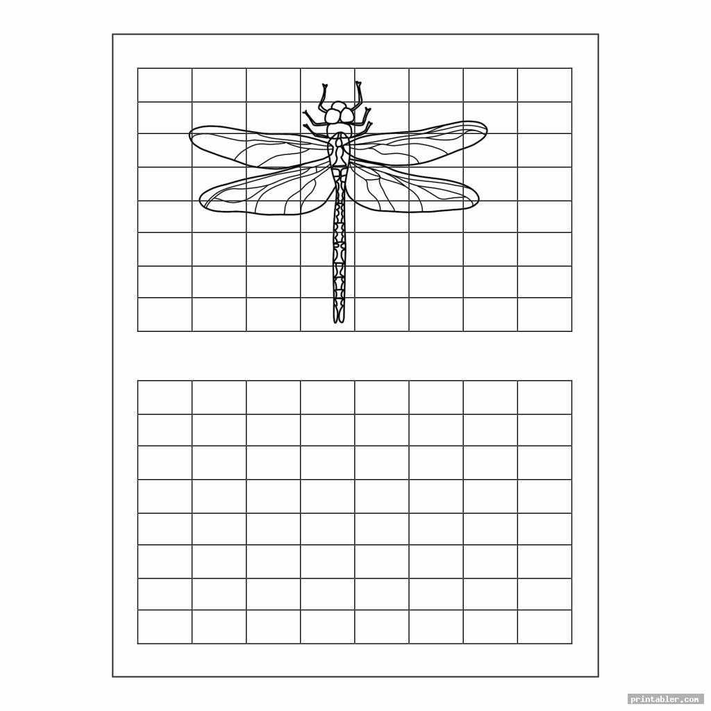 Grid Art Worksheets Printable
