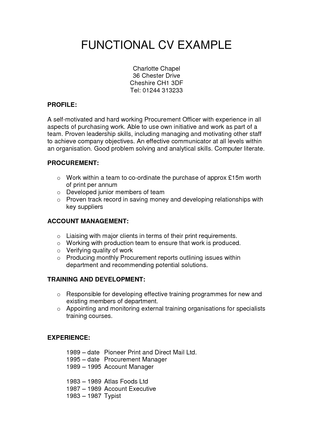 functional and chronological resume templates