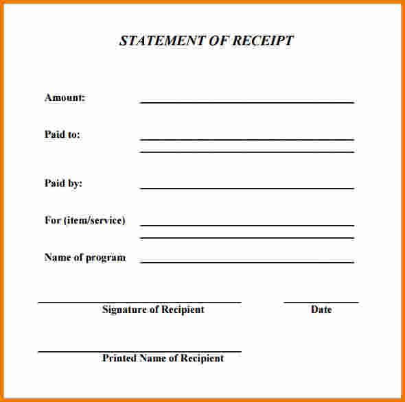 Generic Receipt Template Printable Receipt Template