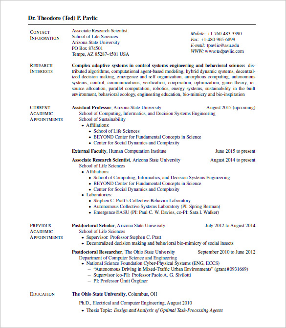resume latex online