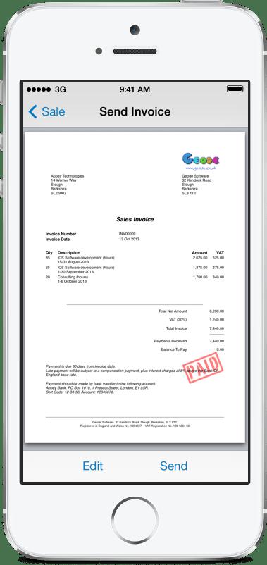 invoice template app