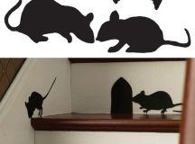 Paper Mice Halloween Decor - Printables 4 Mom