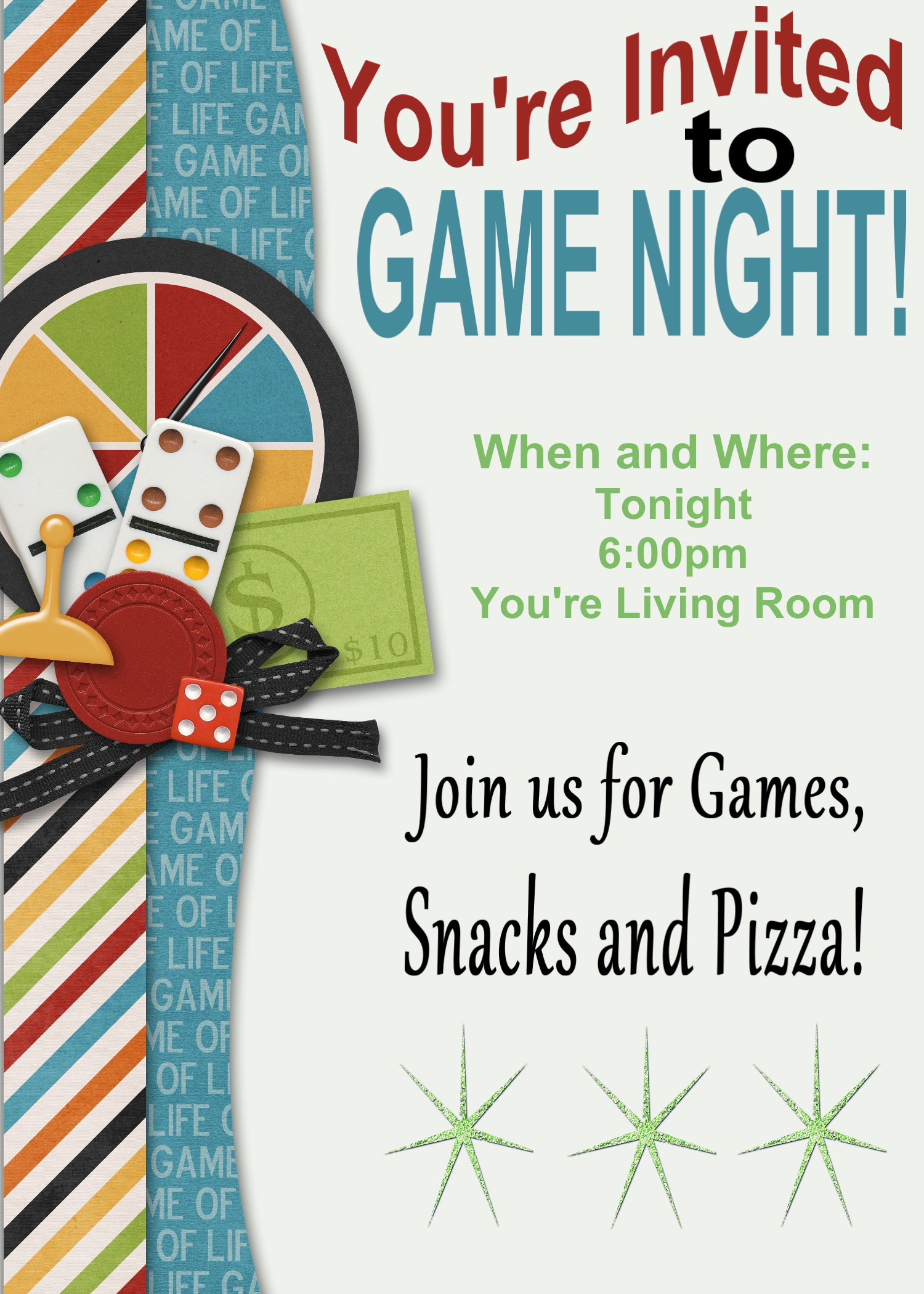 Game Night Printable Invitation And Game Review