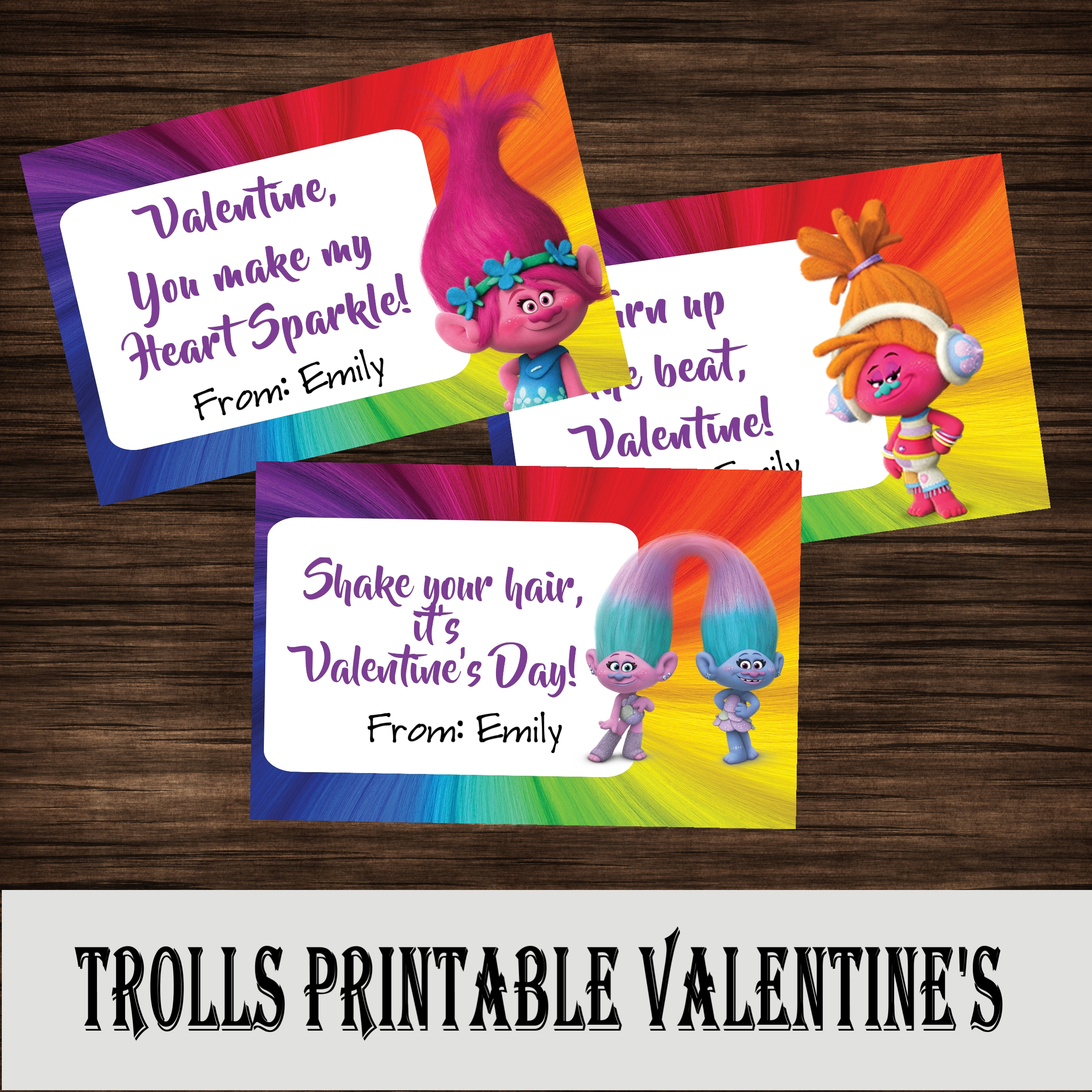 Trolls Valentine S Day Cards Free Printables