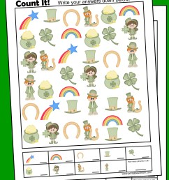 St. Patrick's Day I Spy Counting Game - Printables 4 Mom [ 3300 x 2550 Pixel ]