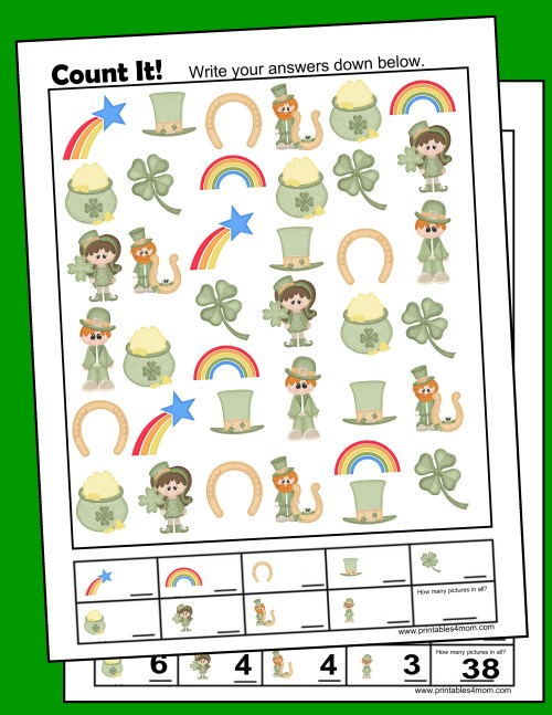 small resolution of St. Patrick's Day I Spy Counting Game - Printables 4 Mom
