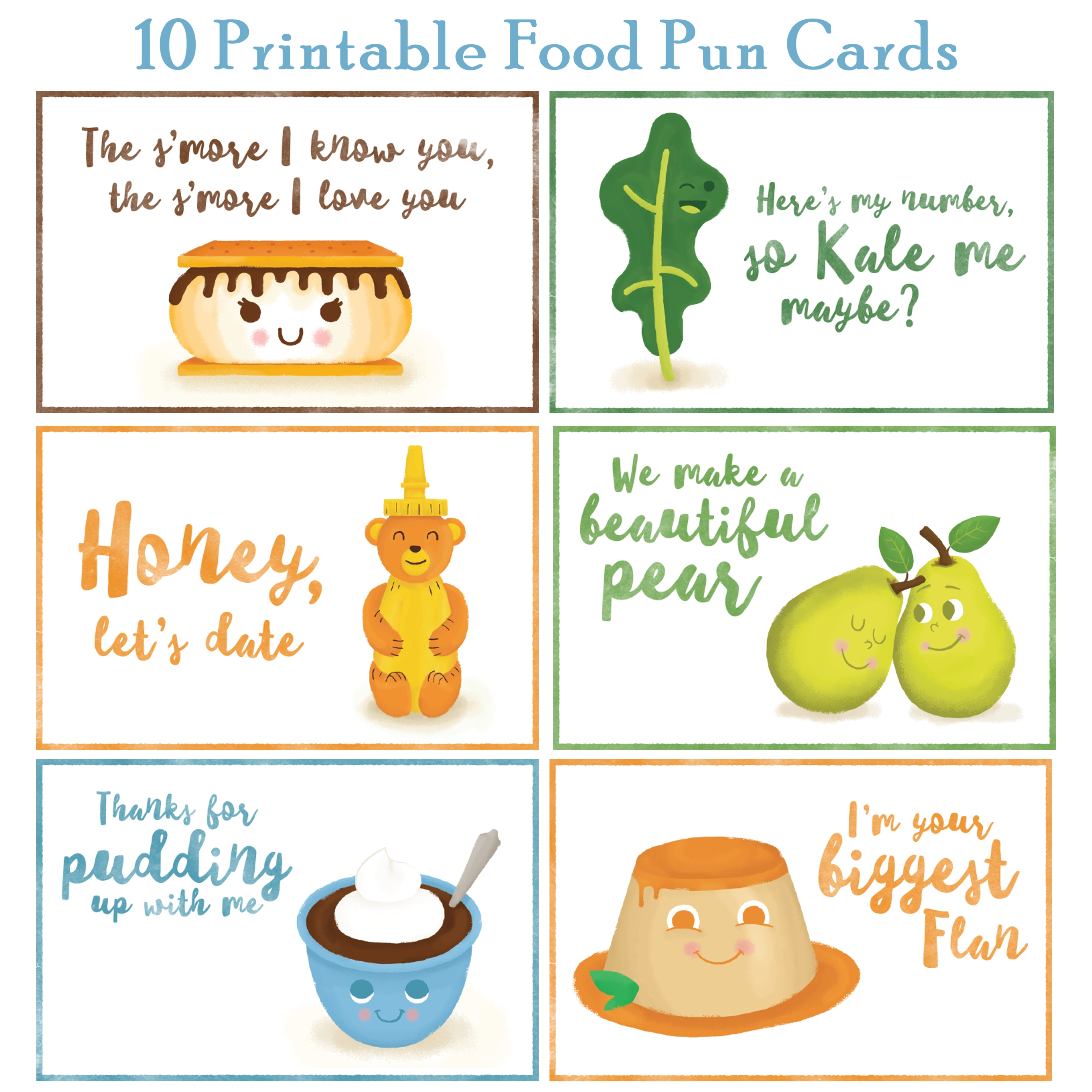 10 Printable Food Pun Cards Printables 4 Mom