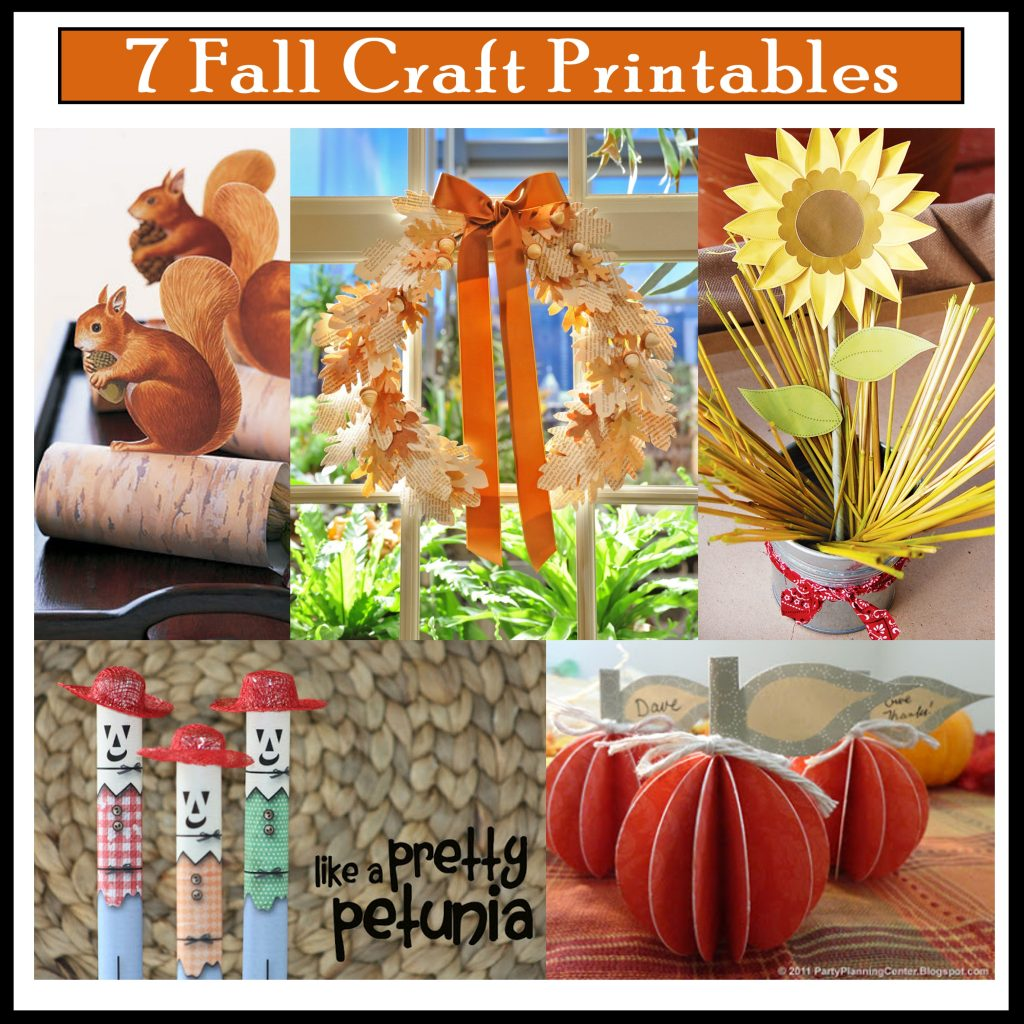 7 Diy Fall Craft Printables