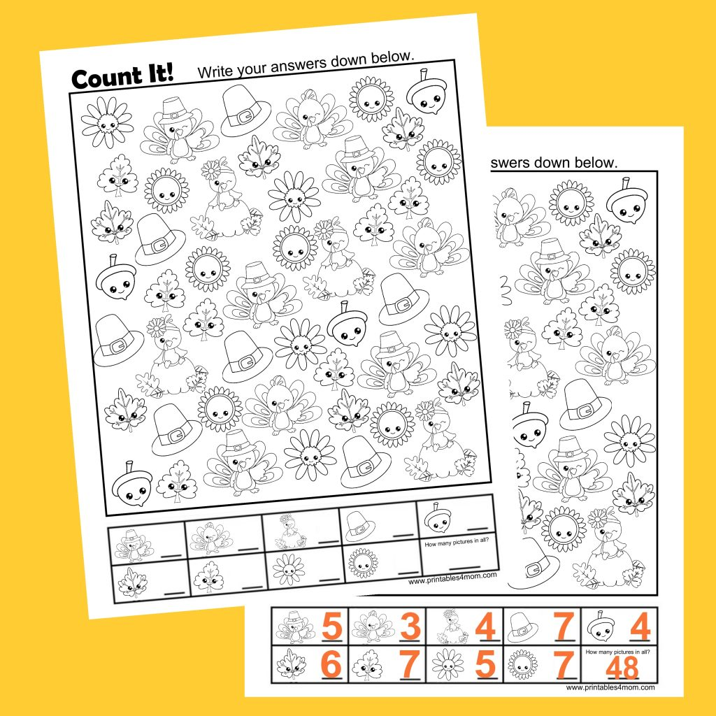 hight resolution of Free Thanksgiving Count It Printable - Printables 4 Mom
