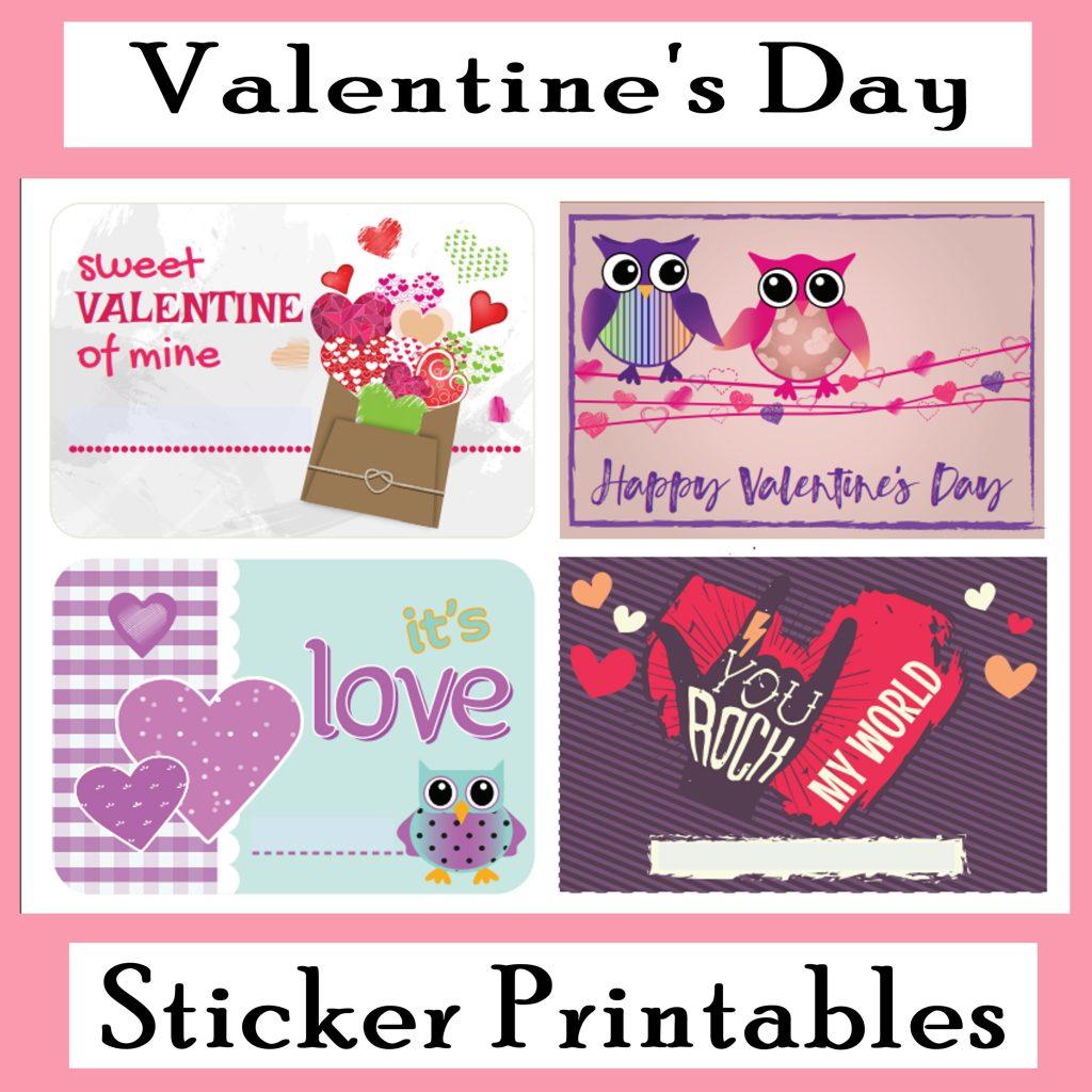 Printable Valentine S Day Stickers