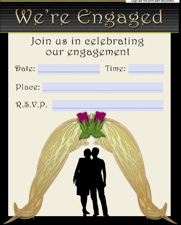 5 Free Sample Engagement Ceremony Invitation Templates - Printable ...