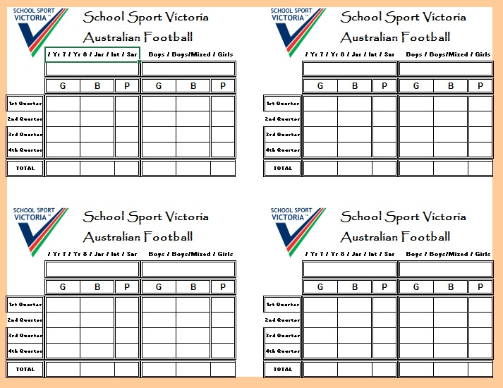 Here Is Preview Of Another Sample Football Score Sheet Template Created  Using MS Excel,