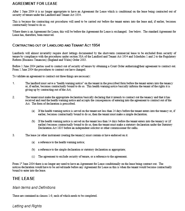 Sample Commercial Security Agreement Template Simple Lease