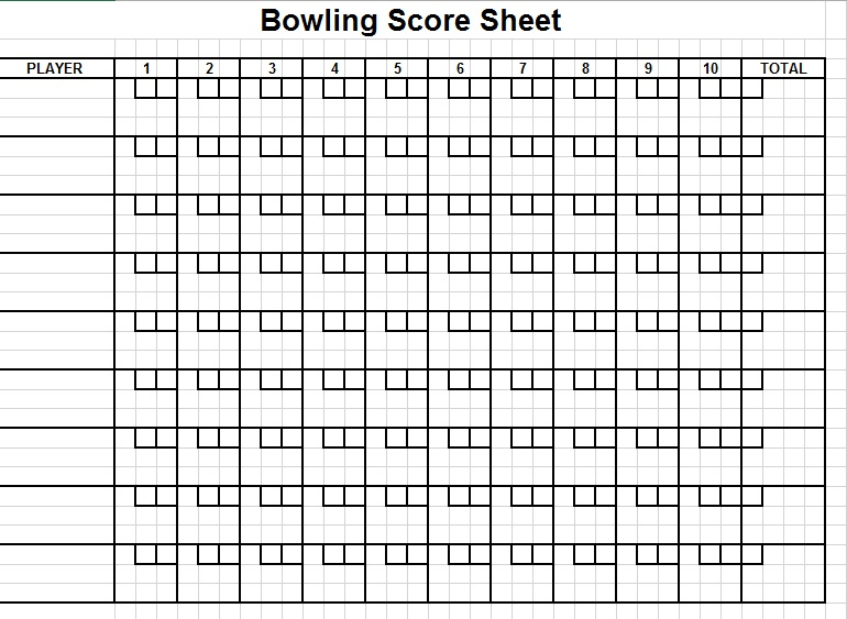 Cricket Score Sheet Blackout Scoresheet Blackout Scoresheet Social
