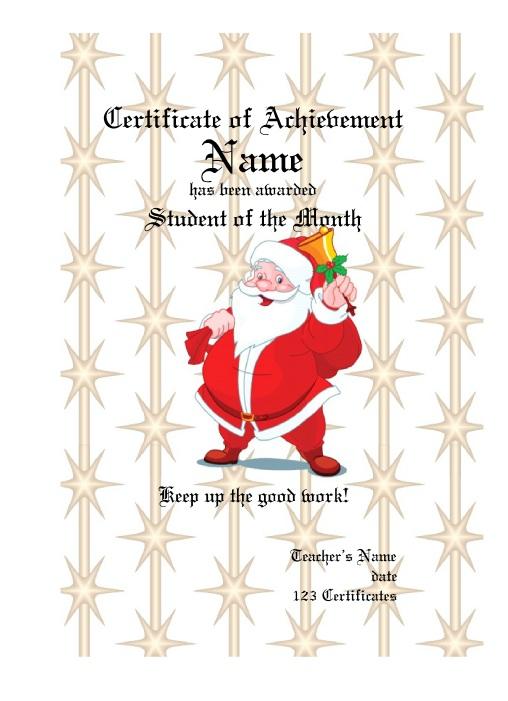 11 Free Sample Christmas Gift Certificate Templates Printable Samples