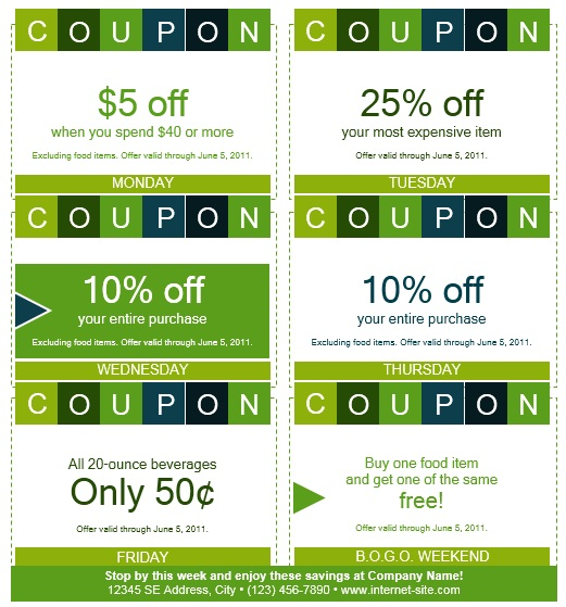 Here Is Preview Of Another Sample Coupon Book Template Created Using MS  Word,  Coupon Sample Template
