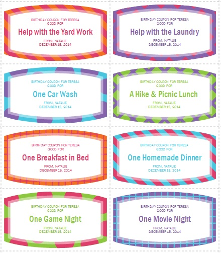 coupon book template free