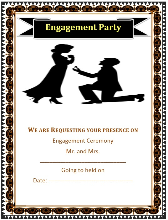 5 Free Sample Engagement Ceremony Invitation Templates
