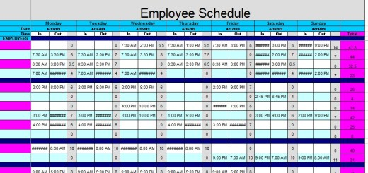 Sample Schedules – Printable Samples