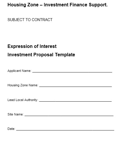 here is preview of another sample investment proposal template created using ms word