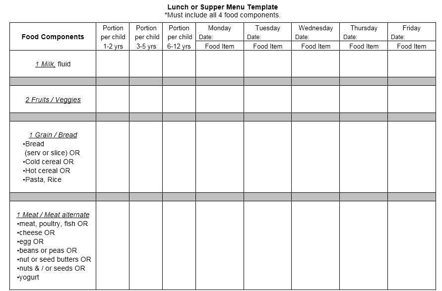 Sample Lunch Menu Template Low Carb Diet Menu Template Sample Diet