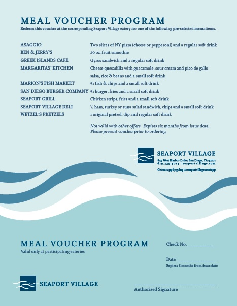 7 Free Sample Meal Voucher Templates Printable Samples