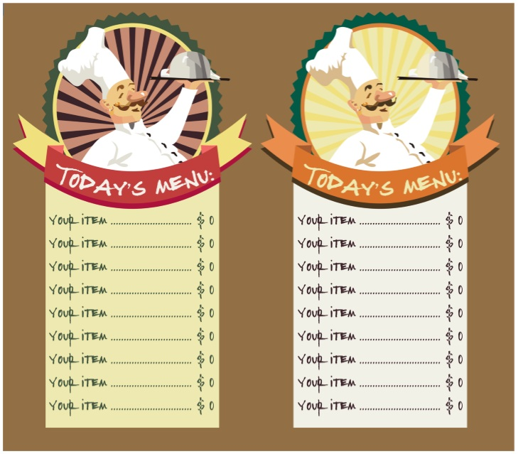 11 Free Sample Breakfast Menu Templates – Printable Samples