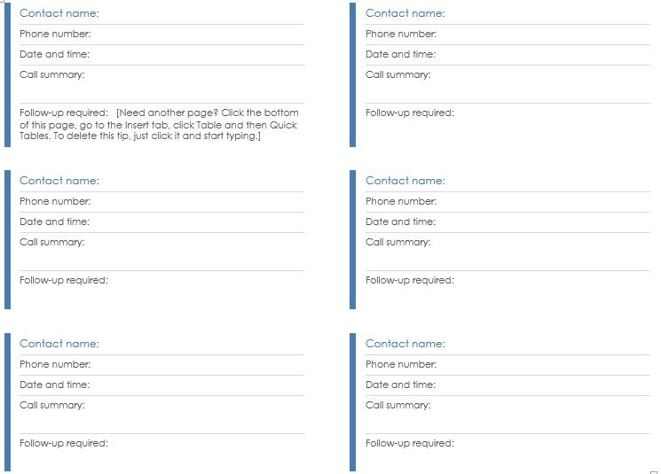 Contact Log Template Harassing Contact Call Log Template Call Log