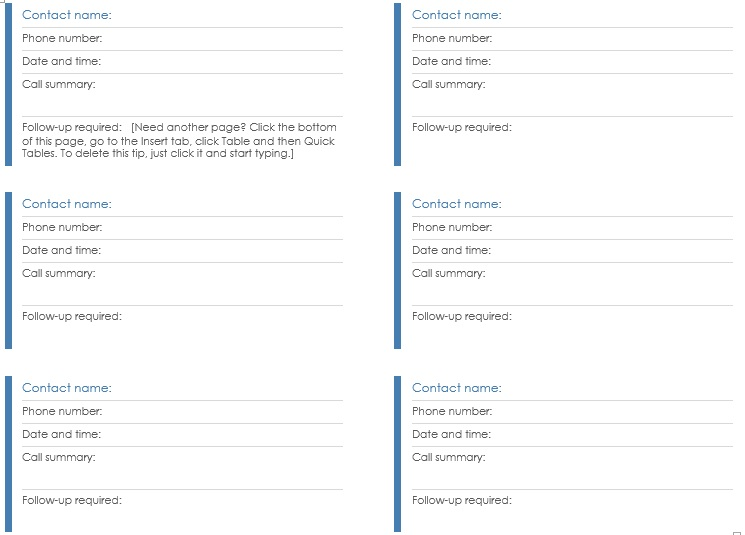 Contact Log Template. Time Log Template Work Log Template - 5+