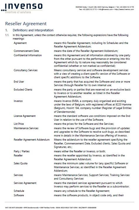 13 Free Sample Reseller Agreement Templates Printable