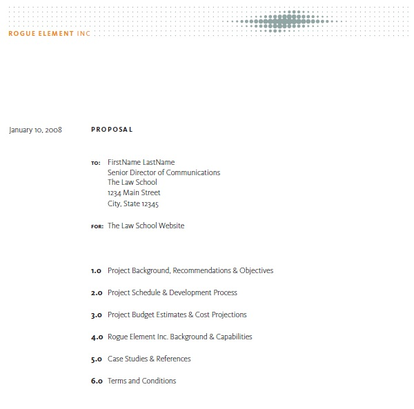 Free Construction Job Proposal Templateestimate Proposal Template