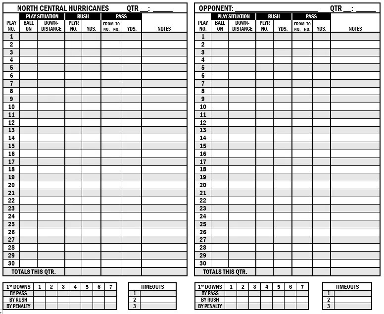 Unforgettable image inside printable football stat sheets