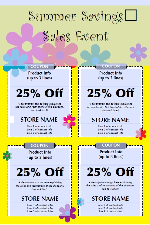 Here Is Preview Of Another Sample Kids Discount Coupon Template In PDF  Format,  Coupon Format