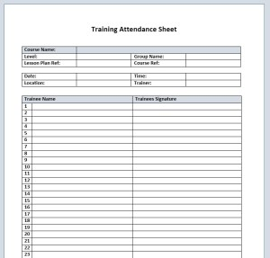 13 free sample training attendance sheet templates printable samples training attendance sheet template 09 altavistaventures Image collections