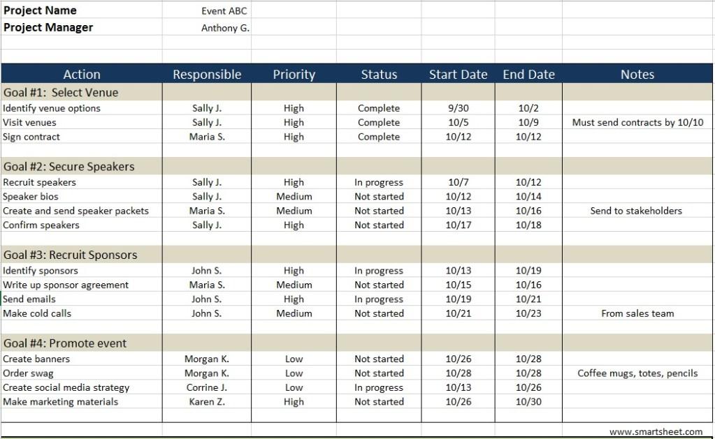 10 free sample action log templates